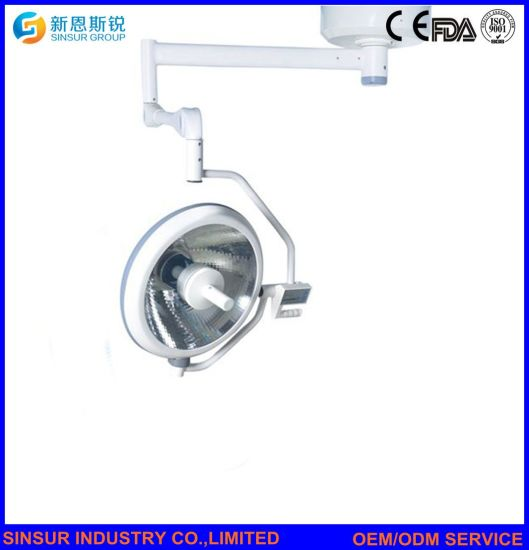 Medical Instrument Ceiling Double Head Halogen Shadowless Surgery Operating Lamp pictures & photos