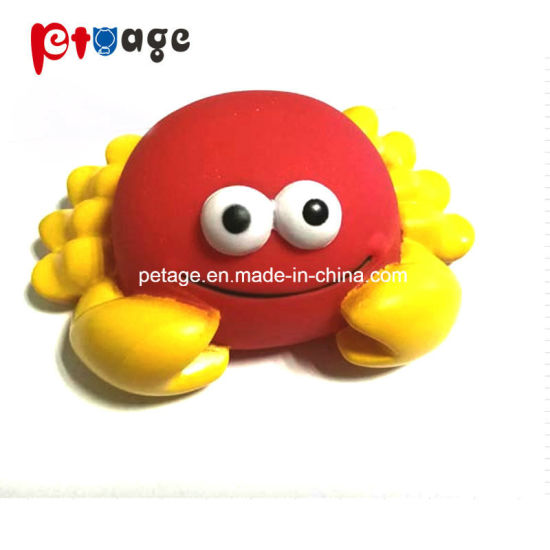 Pet Supply Crab Vinyl Squeaky Rubber Pet Toys Dog Toys pictures & photos