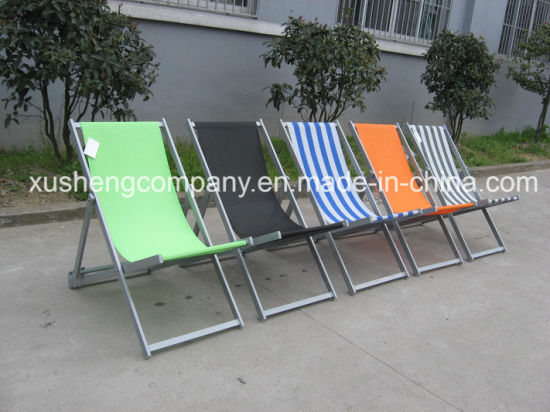 Outdoor Leisure Furniture Metal Frame Without Armrest Folding Recliner Chair pictures & photos