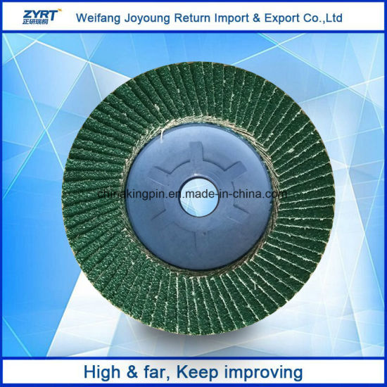 100*16mm Aluminium Oxide Grinding Radical Flap Disk for Sale pictures & photos