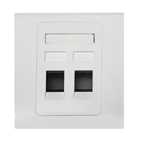 86 Type Dual Port Ethernet Network Cat5e CAT6 Wall Faceplate
