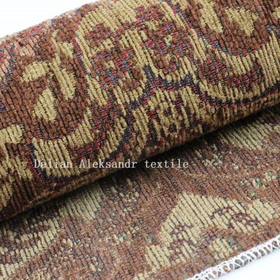 China 100 Polyester Vintage Jacquard Upholstery Sofa Fabric China