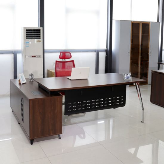 Modern Wooden Table Desk with Metal Leg of Office Furniture (SCDK1006-20)