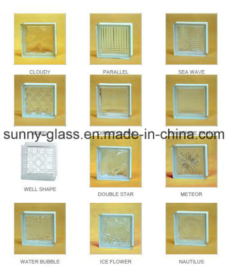 Clear & Colored Glass Block Price for Decorative Wall pictures & photos