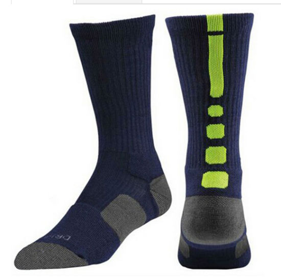 Wholesale High Quality Custom Dri Fit Elite Basketball Socks pictures & photos