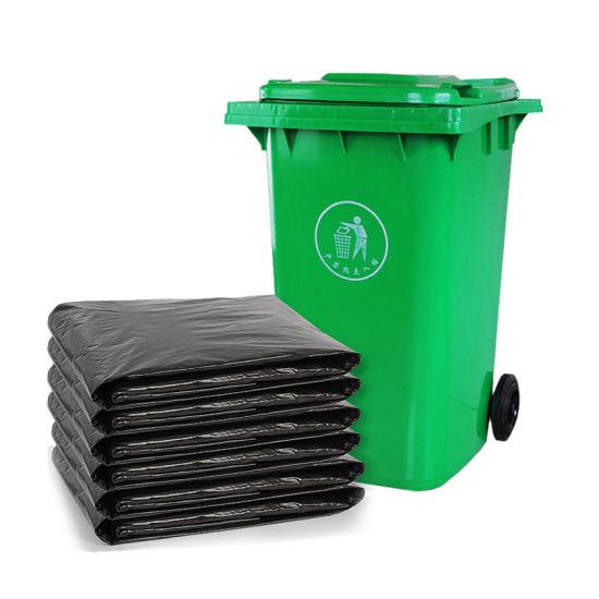 Wholesale Large Black Plastic HDPE Garden Garbage Bags