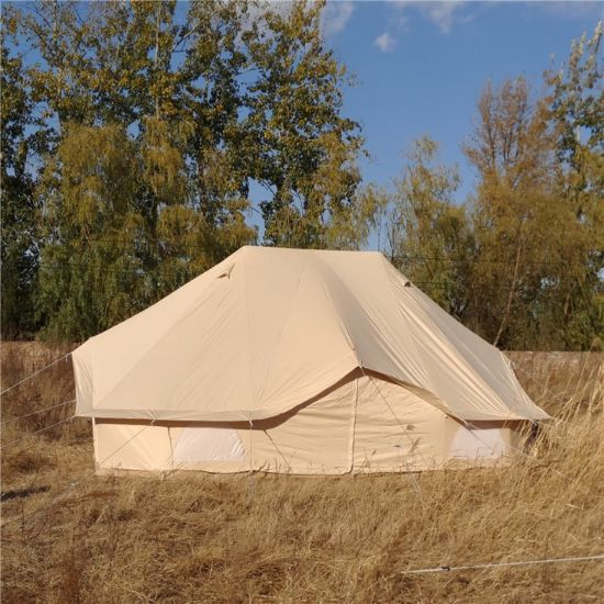 Astounding 6X4M Outdoor Glamping Luxury Canvas Emperor Bell Tent Download Free Architecture Designs Itiscsunscenecom