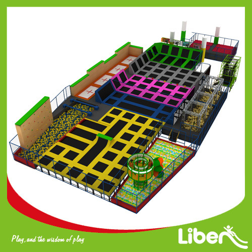 Sky Zone Supplier for Adult Big Indoor Trampoline Park with Climbing Walls pictures & photos