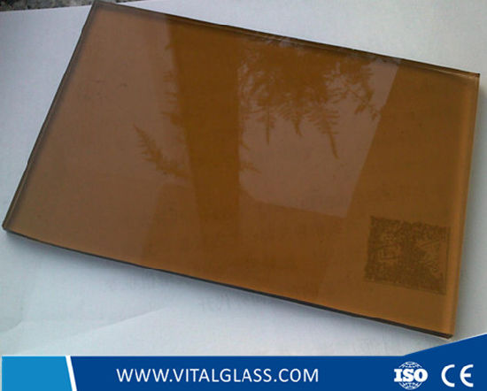 Golden Bronze Colored Float/Toughened Reflective Glass/Tinted Glass/Stained Glass pictures & photos