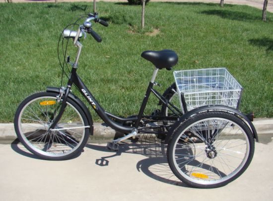 Manufacture/ Wholesale Three Wheel Bike Trike Cargo Shopping Tricycle (JG-M-004) pictures & photos