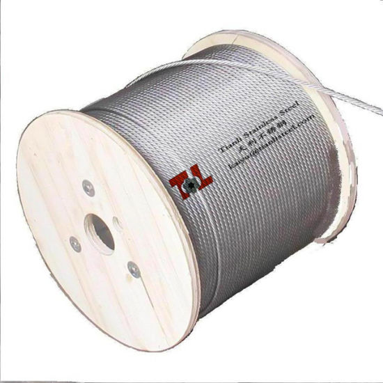 China AISI 316 Stainless Steel Wire Rope Structure 7X19 Dia 6mm ...