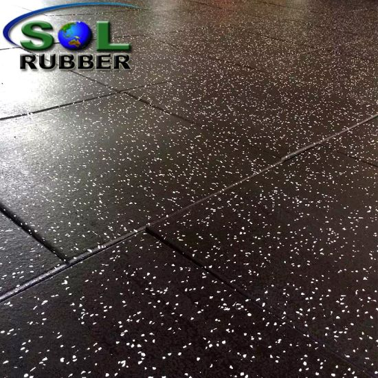 China Sol Rubber For Commercial Gym Rubber Mat Rubber Floor Tile