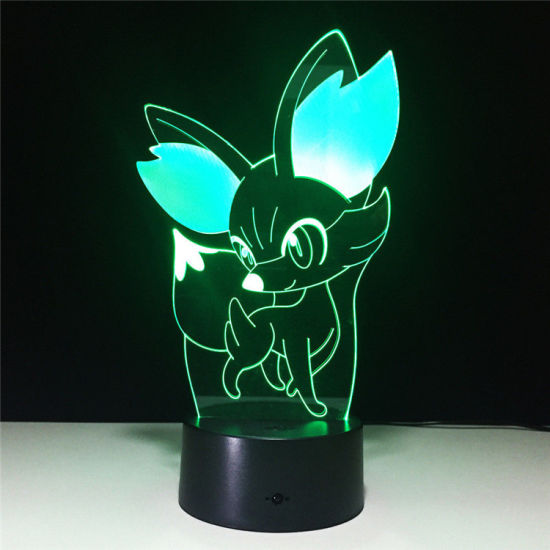 Romantic Pokemon Go Fennekin 3D Touch Tabletop Night Light With Collectible