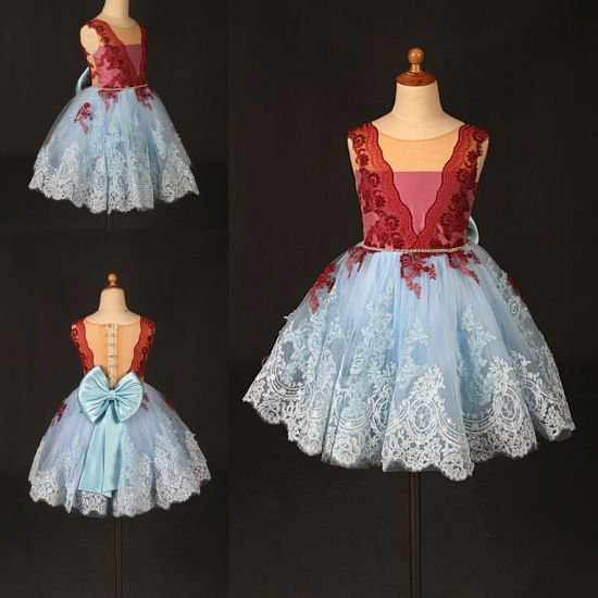 Lace Custom Made Girl Evening Dress Wt011
