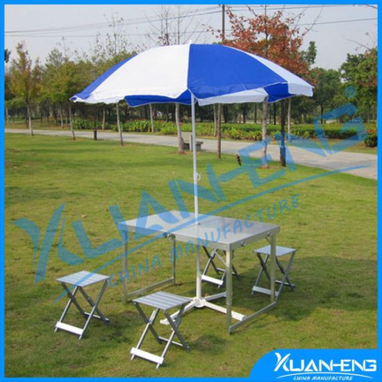China Camping Picnic Stainless Steel Suitcase Aluminum Folding Table - Stainless steel picnic table