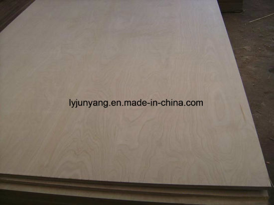 Birch or Pine of Furniture Grade Commercial Plywood