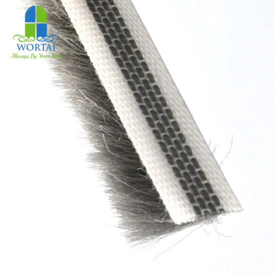 China 1110 Grey Pile Weather Stripping For Sliding Glass Doors