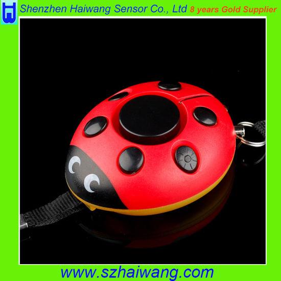 130dB Ladybug Personal Body Safety Alarm Anti Rape Anti Attack Alarm