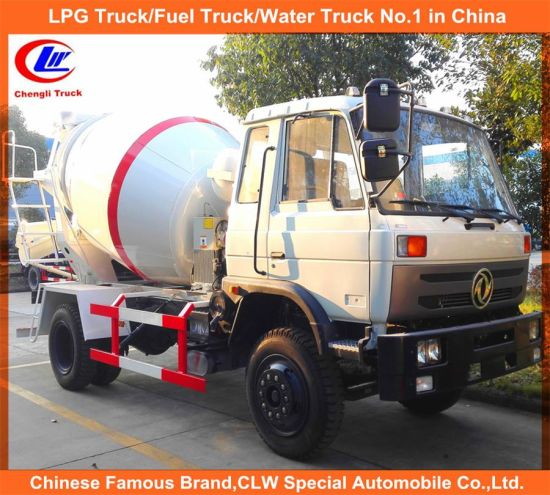 China Small Rear Discharge Truck Mounted Mixers for 6cbm