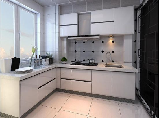 High Quality Customized High Gloss White Kitchen Cabinet For Home