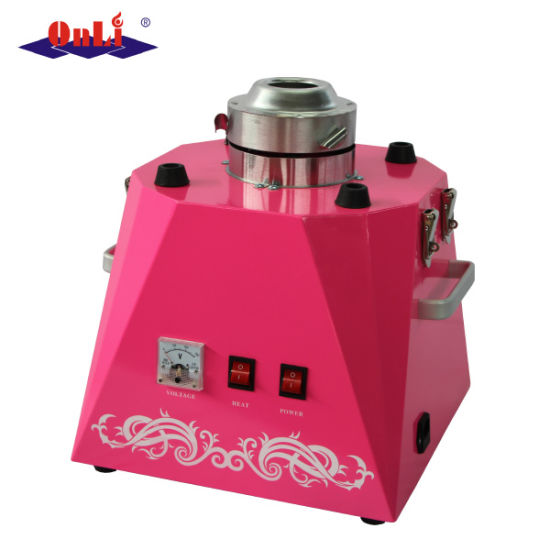 Electric Automatic Flower Cotton Candy Floss Machine/Maker CE Certificate Wholesale Price pictures & photos