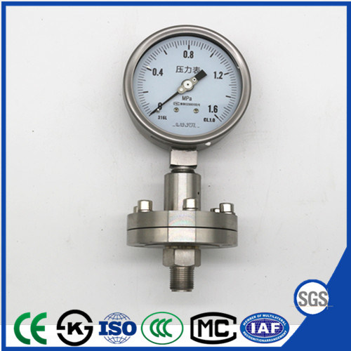 Diaphragm Seal Pressure Gauge of Instrument Manometer with Stainless Steel pictures & photos