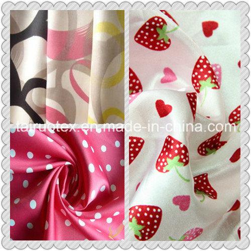 High Quality Digital Printing Polyester Satin Fabric