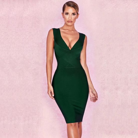 46c52462f53 Ladies Girl Sexy Fashion Party Evening Bandage Clothing Apparel Dress in  Stock Qjm5539
