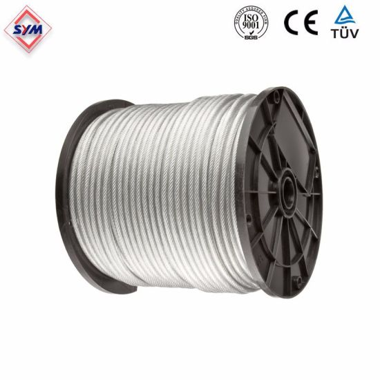 China Tower Crane Spare Parts Steel Wire Rope - China Galvanized ...