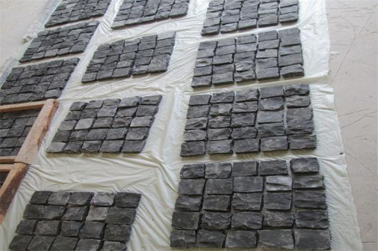 Wholesale Cheap Dark Gray Padang Black Grey Outdoor Driveway Granite Block Paving Stone