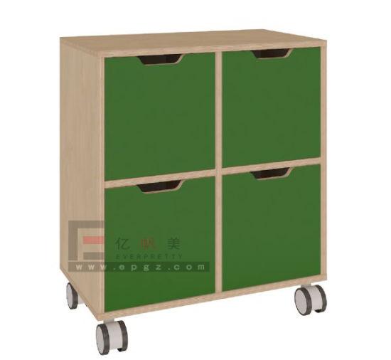 4 PCS Door Wooden Cabinet School Storage Kids Furniture