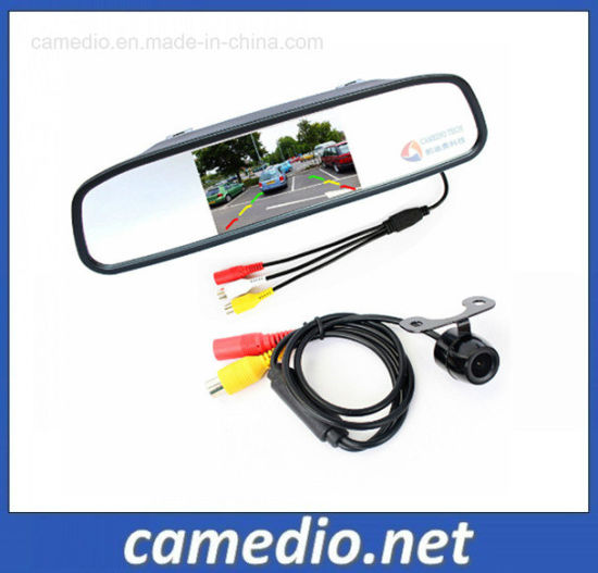 Auto Parking Assistance System 4.3 Car Mirror Monitor+ Rearview Camera pictures & photos