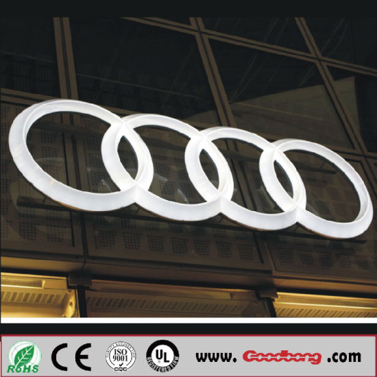 China Outdoor Advertising Product Led Car Brands Logo Names Light