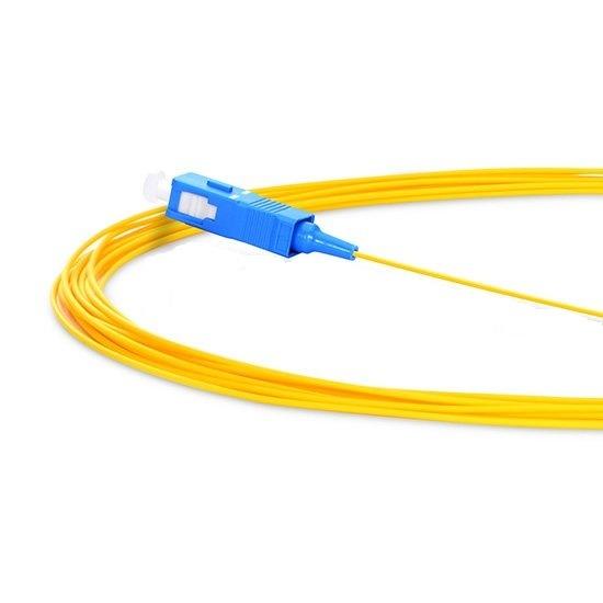 Simplex Sc/Upc 9/125 Single Mode Fiber Optic Pigtail - 0.9mm PVC Jacket
