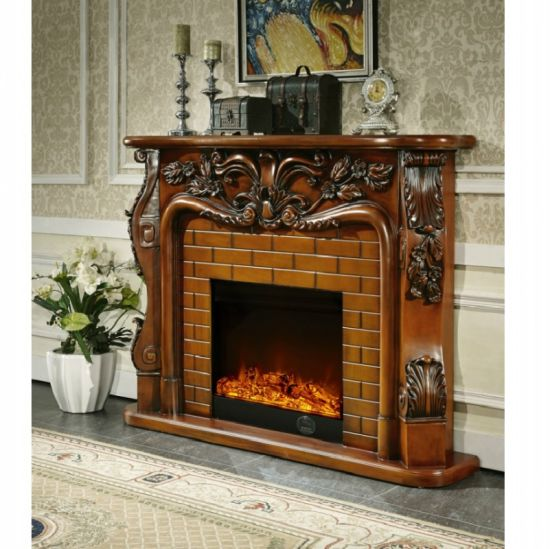 China Best Price Indoor Stone Fireplace And Wooden Fireplace Mantel