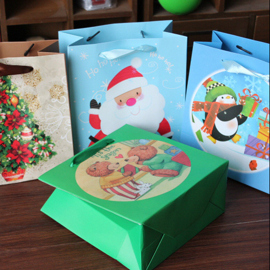 Gift Bag Small Paper Christmas Candy Bags