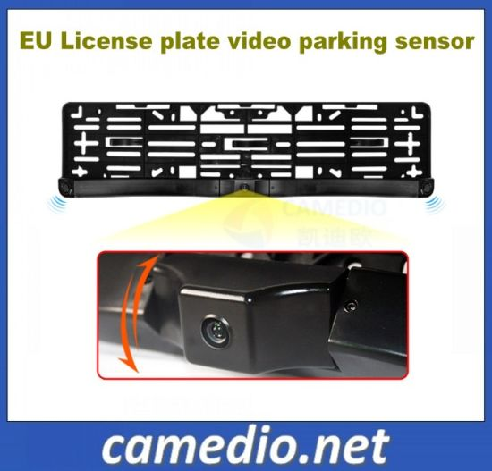 3 in 1 European Number Plate Rear View Camera Parking Sensor System pictures & photos