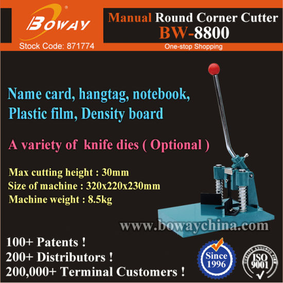 Graphicshop 30mm Cut Height Hand Operated Manual Paper Sheets Round Corner Cutter pictures & photos