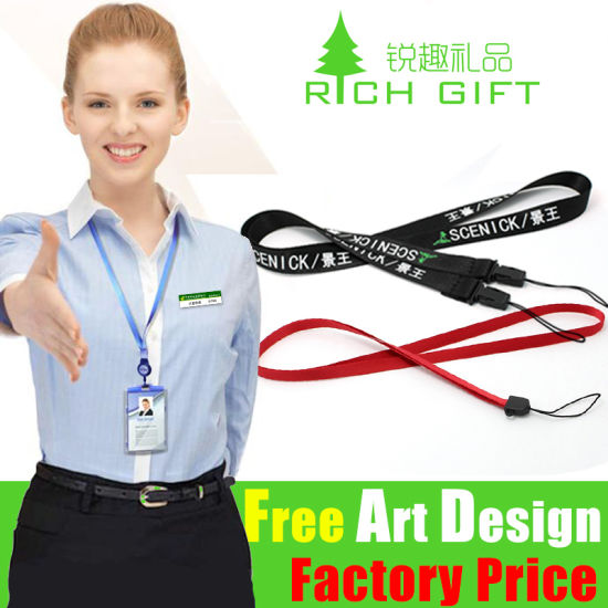 High Quality Rubber Metal Hooklockrope Nylon Printing Logo Lanyard Keychain pictures & photos