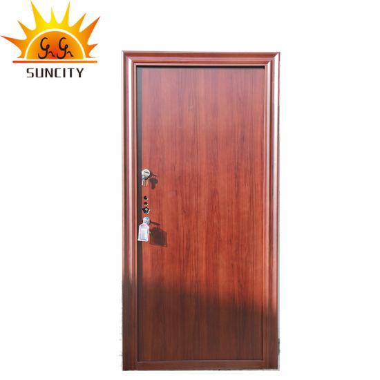 High Quality Safety Door Design in Metal Steel Door Price