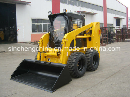 1 Ton 45kw 0.5m3 Skid Steer Loader with CE pictures & photos