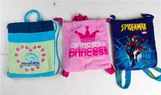 China Printed Beach Towel Bag Tote Foldable