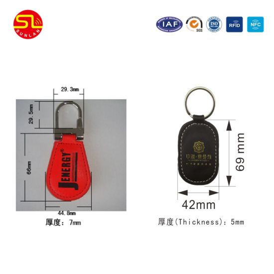 Wholesale Custom Plastic MIFARE Key Ring Tags Keychain Qr Code pictures & photos