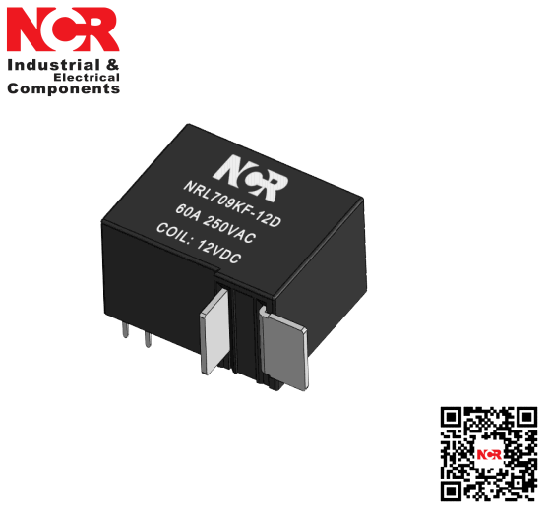 60A 12V Magnetic Latching Relay (NRL709KF)