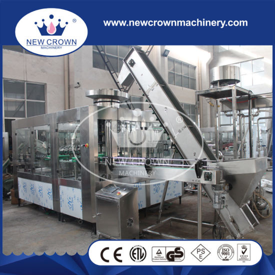 PLC Control Stainless Steel Level Adjusted Drink Bottling Machine for Non Gass Liquid