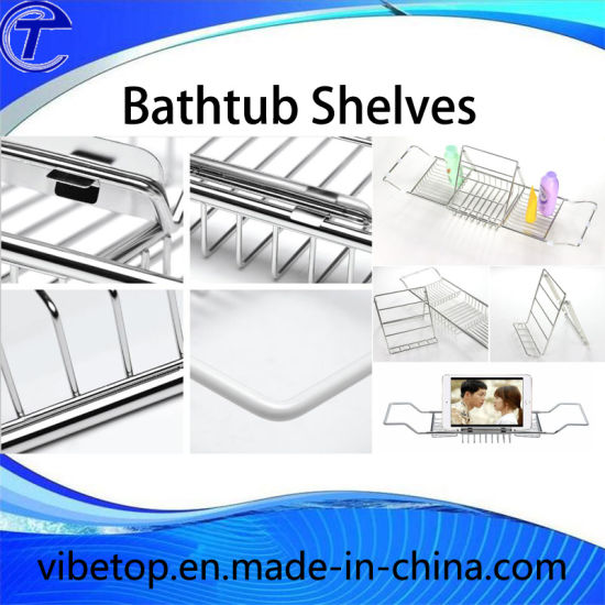 Hot Sale All Bathtubs Are Suitable Expandable Stainless Steel Bathtub Rack Shelf pictures & photos