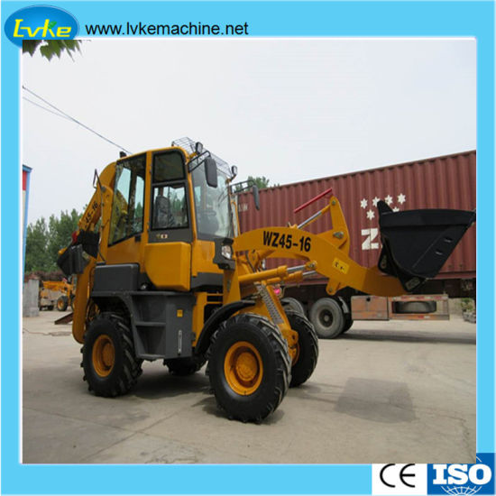Construction Machinery Backhoe Lk-Wz45-16 Volume 08cbm Engine 36.8kw Operating Weight 5300kg pictures & photos