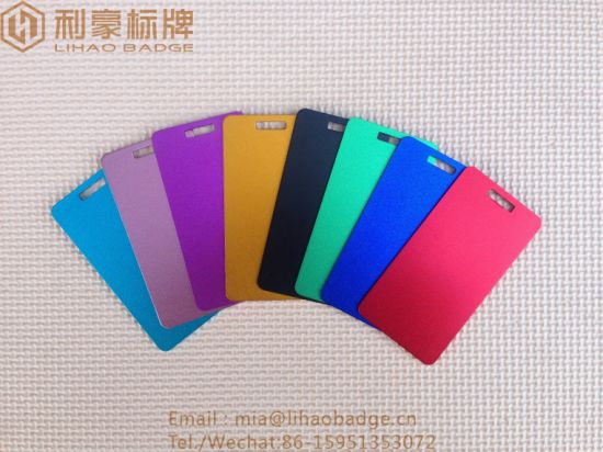 Anodized Blank Aluminum Alloy Luggage Tag