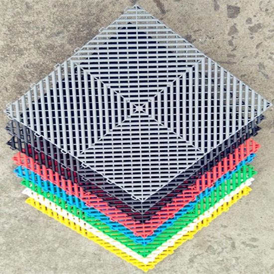 Basement Plastic Garage Floor Mat Interlocking Garage Flooring Mats
