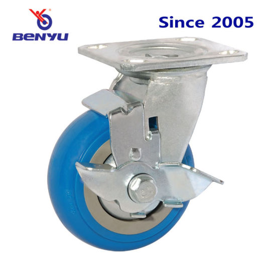 Heavy Duty blue Side Rade Nylon Caster